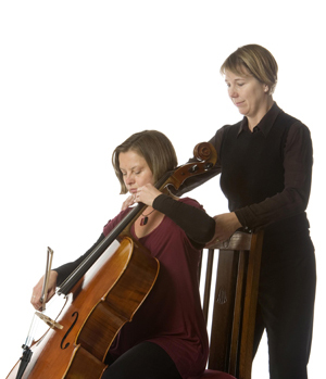 Susannah works with a cellist